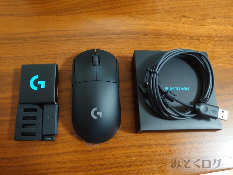 Logicool G Pro Wireless内容物1